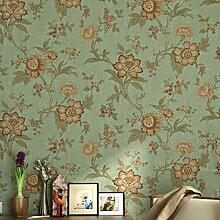Blooming Wand Vlies Vintage Blume Floral Peony Tapete für Wohnzimmer Schlafzimmer Küche, 57eckig Ft., weiß/beige