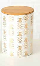 Bloominghome Vorratsdose mit Holzdeckel Ananas