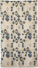 Bloomingville AH0646 Teppich, blau