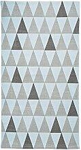 Bloomingville Baumwolle Teppich, Hellblau und Grau