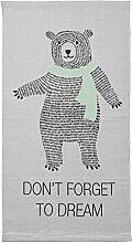 Bloomingville Baumwolle Teppich mit Big Bear, Cool