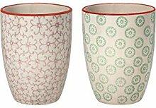 Bloomingville Becher Emma, lila grün, Keramik