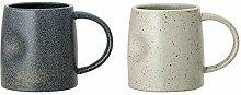 Bloomingville Becher Hazel, mehrere Farben, Keramik