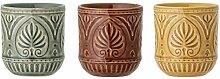 Bloomingville Becher Rani, mehrere Farben, Keramik