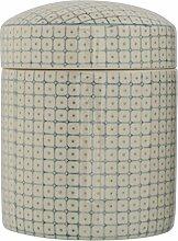 Bloomingville Elizabeth Vorratsdose mit Deckel aus Porzellan handbemalt blau