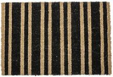 Bloomingville - Fußmatte gestreift, schwarz /