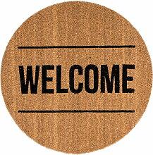 Bloomingville - Fußmatte Welcome, braun