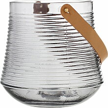 Bloomingville - Glas-Laterne H20 cm, klar