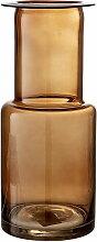 Bloomingville - Glas-Vase, Ø 12 x H 28 cm, braun