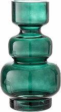 Bloomingville - Glas-Vase, Ø 14,5 x H 25 cm, grün