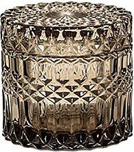 Bloomingville Glasdose mit Deckel grau Retro 10cm
