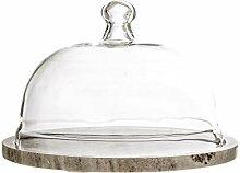 Bloomingville Marmor Käseplatte mit Glasglocke