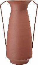 Bloomingville - Metall-Vase mit Henkeln, Ø 18 x H