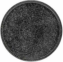 Bloomingville Noir Porzellan Platte schwarz/grau
