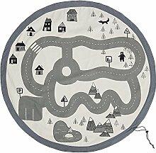 Bloomingville Spielmatte mit Taschenfunktion, grau