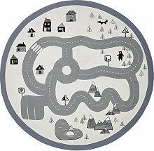 Bloomingville - Spielteppich Verkehr Ø 130 cm,