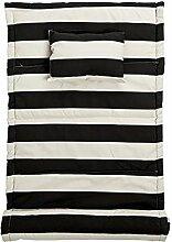 Bloomingville Strandmatte Streifen Schwarz B70xL180 cm