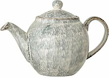 Bloomingville Teekanne aus Steingut, 900 ml, Blau