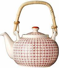 Bloomingville Teekanne Carla, rot, Keramik