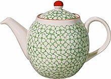 Bloomingville Teekanne Emma grün / handmade /
