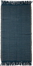 Bloomingville - Teppich, 160 x 80 cm, blau