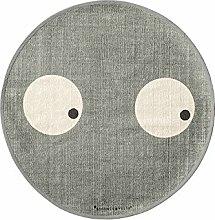 Bloomingville - Teppich mit Augen - Ø 80 cm -