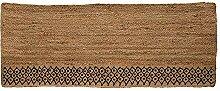 Bloomingville Teppich mit natürlichem Jute-Muster.