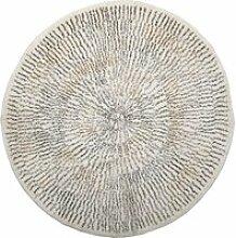 Bloomingville - Teppich mit Streifen, Ø 120 cm,