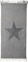 Bloomingville Teppich Star hellgrau