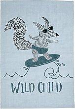 Bloomingville Teppich Wild Child 70 x 107 cm, blau