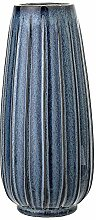 Bloomingville - Vase, Blau, Steinzeug