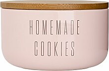Bloomingville Vorratsdose mit Holzdeckel rosa Homemade Cookies