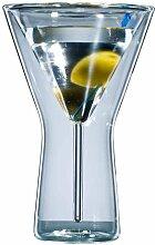 Bloomix Martiniglas, (Set, 6 tlg.), Doppelwandige