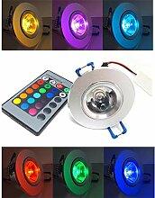BLOOMWIN 5 Stück RGB Einbau Deckenleuchte mit