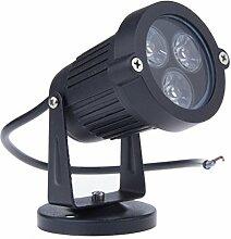 BLOOMWIN LED Gartenstrahler Rot, Wegleuchte Außenleuchte Spotlight Rasen Licht Gartenbeleuchtung Edelstahl Wasserdicht 3W IP65 220V für Garten, Zaun, Balkon, Hof, Park