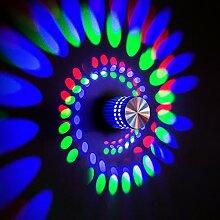 BLOOMWIN Wandbeleuchtung, Bunt 3W LED Innen Wand-Leuchte für Wohnung Haus Hotel Restaurant Salon Shop
