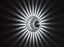 BLOOMWIN Wandleuchte, 1W LED Innen Wangbeleuchtung Aluminium für Hotel Restaurant Wohnung Wohnung Ausstellung