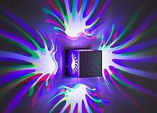 BLOOMWIN Wandleuchte, 3W LED Innen Wangbeleuchtung Aluminium für Hotel Restaurant Wohnung Wohnung Ausstellung