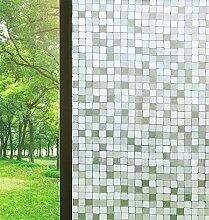 Bloss Fensterfolie, Mosaik-Muster, kein Kleben, 3D