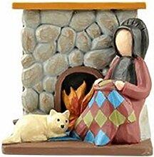 Blossom Bucket amischen Frau Quilting W/Fire