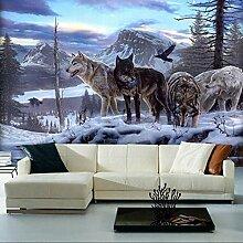 Blovsmile 3D Wandbilder Tapete für Wohnzimmer
