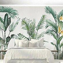 Blovsmile Tapete für Wände 3D Grüne Blätter