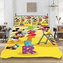 BLSM-Disney Mickey & Minnie Mouse Bettwäsche-Set
