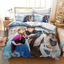 BLSM Frozen Bettwäsche-Set, Anna, Elsa & Olaf
