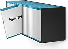 Blu-Ray Designregal in Schwarz