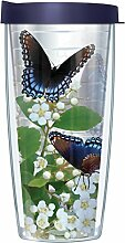 Blue Admiral Butterflies Transparenter Becher mit
