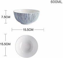 Blue Dinner Plates Geschirr-Sets Food Dishes