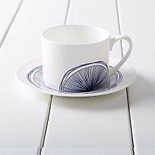 Blue Dream Kaffeetasse Set Teetasse Untertasse Cappuccino Becher Set Geschenkbox, E