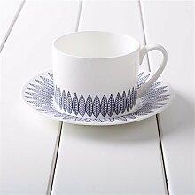Blue Dream Kaffeetasse Set Teetasse Untertasse Cappuccino Becher Set Geschenkbox, Ein