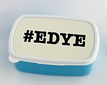 Blue lunch box with nicknames EDYE nickname Hashtag